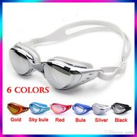 Wholesale Anti fog Anti ultraviolet swimming goggles men and women unisex coating swimming glasses adult goggles DHL fast shipping