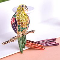 authentic american clothing - Authentic brooch High end clothing Han edition fashion set auger drip set auger dovetail corsage parrot