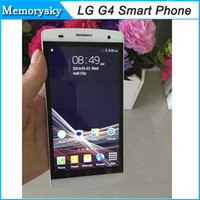 Wholesale 5 inch G4 Unlocked Phone MTK6572 Dual Core GHz MB RAM GB ROM Dual SIM MP MP Camera Smart Phone G WCDMA GPS Andriod