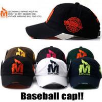 Wholesale 7 COLOR Baseball Caps Men s Snapback Sports Adjustable Bone Cotton M Wolf Women Hats Caps Casual Headwear New AA3036