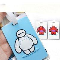 Wholesale Big Hero Cute Baymax Cartoon lage tag card cover hold kids toy Baggage licensing Tagging Supplies