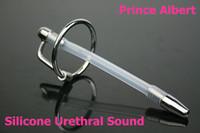 Wholesale silicone urethral sound Stainless Steel soft urethral catheter supplies metal urethral plug catheter sounding sex toys