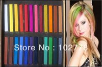 Wholesale Free DHL Colors Fashion Hot Fast Non toxic Temporary Pastel Hair hair care Dye Color Chalk set