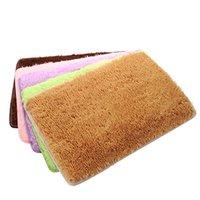Wholesale New Arrival Popular Doormat Gold Velvet Kitchen Living Room Floor Soft Comfortable Mats Doormat Rug Colors cm JI0019 Kevinstyle