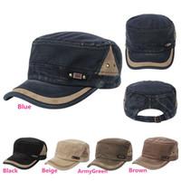 adjustable cadet hats - New Arrivals Unisex Men Women Army Vintage Hats Cadet Military Baseball Ball Caps Cotton Blend Adjustable Classic Plain PX59