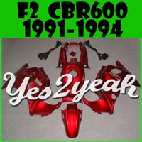 Cheap Yes2yeah ABS Plastic Fairing For CBR 600 RR 1991-1994 91-94 F2 All Red H21Y174