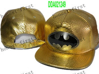 baseball bats - New Black Batman Bat Man Snapback Hats Snapback Adjustable Hat Baseball Ball Caps