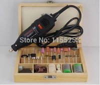Wholesale Dremel Grinding Hardware Variable Speed Rotary Tool Mini Drill with Wood Box Pack Polished Accessories order lt no trac