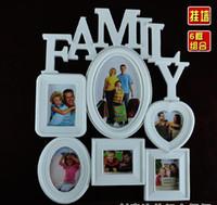 album art frame - Art Frames Wall Mounted Family Album Frame For Home Decoration White Conjunct Family Photo Frame Family Photo Frame