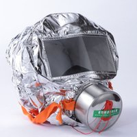 Wholesale Fire escape mask Emergency Hood Oxygen gas masks Respirators Minutes Smoke Toxic Filter Gas Mask with packing box Escape mask