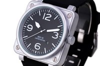 Wholesale Men s Luxury Sport Stainless Steel Automatic Mechanical Classic BR03 Rubber Brown Leather Strap BR BR01 Watch