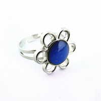 Wholesale Mood Ring Pieces Mood ring color change The Magic of Sunflower Band Ring