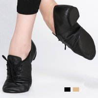 Wholesale New jazz dance shoes for adults and children comfortable premium Soft Cow Leather Jazz dance Shoes T