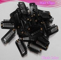 Wholesale Fashion Hot Wig Clips mm Hair Extension Clips Black Color Snap Clips for Hair Extension I Shape Wig Clips