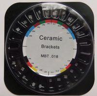 Cheap 1 box dental orthodontic ceramic bracket MBT 018 3 with hooks 5*5 PROMOTION