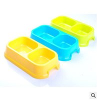 Cheap 2015 Free Shipping Dual Port Dog Automatic Water Dispenser Feeder Utensils Bowl Cat Drinking Fountain Food Dish Pet Bowl