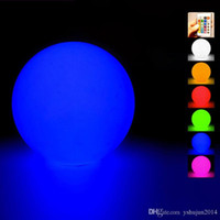 Wholesale 2015 New Waterproof floating water LED Ball colorful changed Rechargeable led ball CM RGB color for home garden swimming pool decoration
