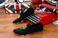 Wholesale New Fashion Mens Flats Velvet Slippers Men Loafers Mens Velvet Shoes Brand Men Dress Shoes Casual Flat Shoes