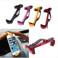 Wholesale Universal Mobile Phone Holder Car Steering Wheel Bracket Stands Holder for iPhone Samsung GPS Colors New Arrivel