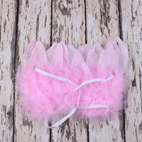 baby feather wings - Lovely Style Infant Newborn Photo Prop Baby Kid Angel Fairy Feather Wing Costume Set For Children Present Items E627