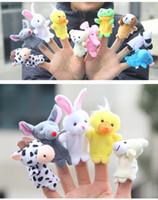 Wholesale 10pcs Animal Finger Puppet Plush Toys Children s Story Props Kid s Halloween Christmas Dolls Gifts