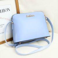 Wholesale Summer Spring Women s handbag cross body handbag one shoulder bag shell shape small bags blue black color