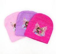 Cheap Free shipping!Frozen Winter Knitted hats,Ice snow kids hats,children knitting caps,Anna Elsa turtleneck cap,baby wear,kids dresses.15 pcs.DY