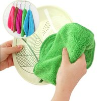 Wholesale Non stick oil dishclout wash cloth waste absorbing wool thickening wash towel ultrafine bamboo fibre towel