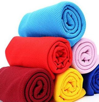 Wholesale Cold cooling Performance towel sports outdoor ice cold scarf scarves Pad neck tie wristband headband Summer beach cooling band xmas gift