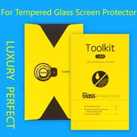 alcohol paper - Luxury Top Quality Tool Bag Package Paper Alcohol Cloth Sticke For Phone Cell Tempered Glass Screen Film Packaging Box With Full Accessories