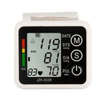 Wholesale New Wrist Automatic Digital Blood Pressure and Pulse Monitor heart beat Sphygmomanometer LCD screen Electronic
