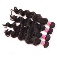 Cheap 4 Bundles Brazilian Loose Wave Hair Cheap Brazilian Virgin Human Hair Weave Unprocessed Brazilian Virgin Hair Natural Wave Wavy