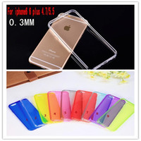 Plastic apple source - 100pcs Iphone Transparent Case Newest Clear Sillicone Source Material TPU Cases For Iphone IPHONE6 plus
