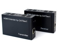 Wholesale New HDMI Extender Transmitter Receiver m HDMI Extender Over One CAT5E CAT6 TCP IP IR Function D5246A