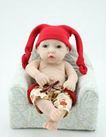 Wholesale 10 Inches Full Body Silicone Mini Reborn Baby Dolls For Sale Alive Newborn Boy Dolls Handmade Hot Fashion