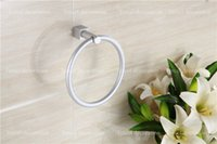 Wholesale round base Anodic oxidation modification never rust aluminum towel ring creative bathroom decorative towel rings