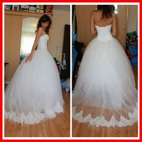 Wholesale Real Sample White Ball Gown Dress for the Bride Wedding Dress Made in China