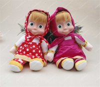 baby animal song - Russian Masha and Bear plush Dolls Baby Children Best Stuffed Plush Animals Gift Martha Italian songs