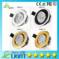 Wholesale High power Led Recessed lamp x3W W Led Bulb V LED lighting led downlight spot light with led driver free shioping