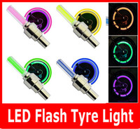 auto led wheel light - 2PCS SET LED Flash Tyre light Flashing different color LED Wheel Light For Auto Car Motorcycle Bike Bicycle Cycling Tyre