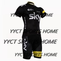clothing new jersey - New arrive yellow sky Pro team Cycling Jersey Bib Short Pants With Gel Pad Ropa de Ciclismo Maillot Bike Wear Cycling Clothing Set