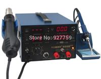 Wholesale 110V V SAIKE D Hot Air Gun Rework Station in Soldering iron Heat Gun Power Supply Welding Repair Solder Station
