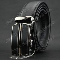 mens leather belts - Men s Fashion Business Mens Synthetic Leather Belt Automatic Buckle Belt SV004845