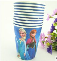 Wholesale Hot Sale Paper Cups Toys Cartoon Drinking Cup Tableware Disposable Mug Dish for Party Paper Plates
