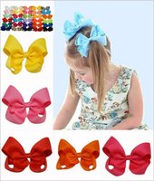 ribbon for hair bows - 30colors high quality ribbon hair bows hair clip for girls Solid ribbon bows lovely girl hairband for children hair accessories