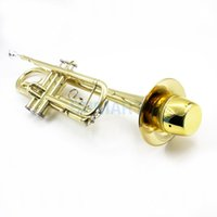 Wholesale ABS Trumpet Mute for Practice Golden