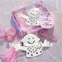 baby nz - To AUS NZ BM013 Baby Themed Favors Bookmark Favors Pink Color HOT Sale real photo attached