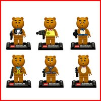 build a bear - Box packing a Teddy bear Minifigures Building Block Sets DIY figure Doll block Assemblage educational Learning toy Children gift