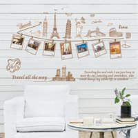 architecture lights - 23 inch Removable Creative Sightseeing Architecture Wall Sticker Home Decor Fashion Stickers Living Room Bedroom Wall Art Cheap
