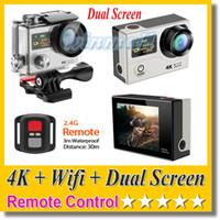 action control - Gopro Style SJ9000 EKEN H3R K Action Camera Dual Screen Remote Control Wifi P FPS MP M waterproof Sport DV Cam